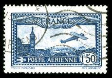 Selo francês dos aviões do vintage Fotografia de Stock Royalty Free