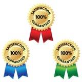Selo garantido satisfação Foto de Stock