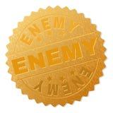 Selo INIMIGO da medalha do ouro ilustração do vetor