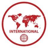 Selo internacional Fotografia de Stock Royalty Free