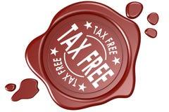 Selo isento de impostos da etiqueta isolado Imagem de Stock