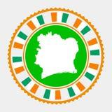 Selo liso da Costa do Marfim ilustração royalty free