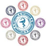 Selo médico da serpente Imagem de Stock Royalty Free