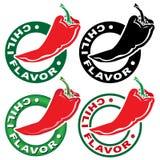 Selo/marca do sabor do pimentão Imagens de Stock