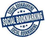 selo marcando um endereço da Internet social ilustração stock