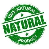 selo natural de 100% ilustração royalty free