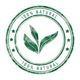 selo natural de 100% isolado no branco Imagem de Stock Royalty Free