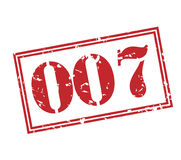 selo 007 no fundo branco Fotos de Stock Royalty Free