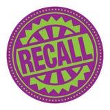 Selo ou etiqueta abstrata com o aviso do texto ilustração royalty free