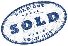 Selo para fora vendido do grunge Fotografia de Stock Royalty Free