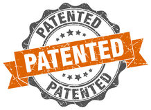 Selo patenteado ilustração royalty free