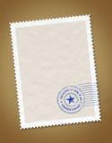 Selo postal ilustração do vetor