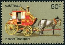 Selo postal - Austrália Foto de Stock