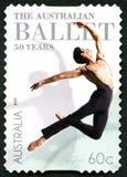 Selo postal australiano do bailado Fotos de Stock