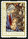 Selo postal australiano do Natal Foto de Stock Royalty Free