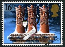 Selo postal BRITÂNICO do Natal Fotografia de Stock Royalty Free