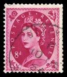 Selo postal da rainha Elizabeth II do vintage Fotos de Stock Royalty Free