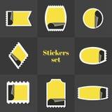 Selo postal das etiquetas da coleção Foto de Stock Royalty Free