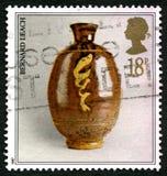 Selo postal de Bernard Leach Pottery Reino Unido Imagens de Stock Royalty Free