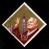 Selo postal de Haiti do vintage com o retrato de Winston Churchill Foto de Stock Royalty Free