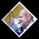 Selo postal de Haiti do vintage com o retrato de Winston Churchill Imagem de Stock Royalty Free