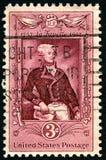 Selo postal de LaFayette E.U. fotografia de stock
