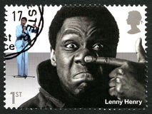Selo postal de Lenny Henry Reino Unido Fotos de Stock Royalty Free