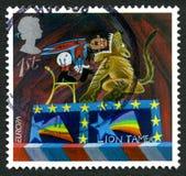 Selo postal de Lion Tamer Reino Unido Imagem de Stock Royalty Free