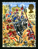 Selo postal de Londres Lord Mayors Festival Reino Unido Fotografia de Stock