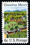 Selo postal de Moses E.U. da avó Fotografia de Stock Royalty Free