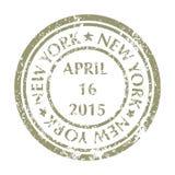Selo postal de NEW YORK Fotos de Stock Royalty Free