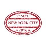 Selo postal de NEW YORK Fotos de Stock