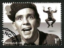 Selo postal de Norman Wisdom Reino Unido Imagens de Stock