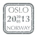 Selo postal de Noruega Foto de Stock