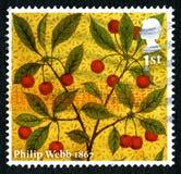 Selo postal de Philip Webb Reino Unido Fotos de Stock