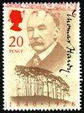 Selo postal de Thomas Hardy Reino Unido Foto de Stock Royalty Free
