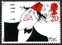 Selo postal de Tommy Cooper Reino Unido Fotos de Stock Royalty Free