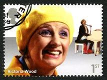 Selo postal de Victoria Wood Reino Unido Fotografia de Stock