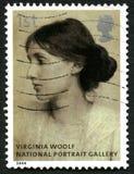 Selo postal de Virginia Woolf Reino Unido foto de stock royalty free