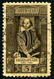 Selo postal de William Shakespeare EUA Fotos de Stock