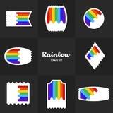 Selo postal do arco-íris da coleção Fotos de Stock Royalty Free