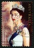 Selo postal do australiano da rainha Elizabeth II Fotografia de Stock Royalty Free