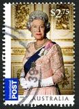 Selo postal do australiano da rainha Elizabeth II Fotografia de Stock
