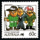 Selo postal do australiano das forças armadas Fotos de Stock