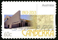 Selo postal do australiano de Canberra Fotografia de Stock Royalty Free