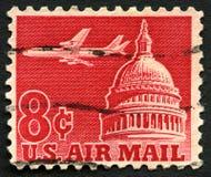 Selo postal do correio aéreo dos E.U. Foto de Stock Royalty Free