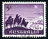 Selo postal do Natal de 1959 australianos Fotos de Stock