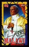 Selo postal do papa John Paul II Fotos de Stock
