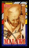Selo postal do papa John Paul II Imagem de Stock Royalty Free