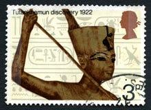 Selo postal do Reino Unido da descoberta de Tutankhamun fotos de stock royalty free